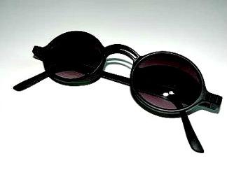 Solläs runda svarta med läsruta