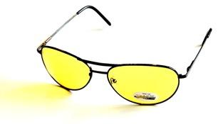 Pilotbågar Ackie gula glas