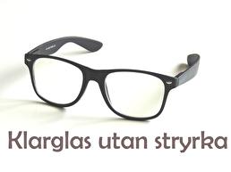 Glasögon utan styrka, med klarglas