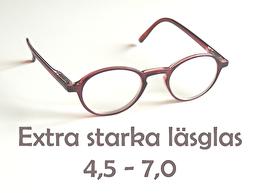 Extra starka läsglas + 4,5 - 7,0