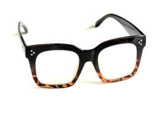 Klarglas Grym brun/svart