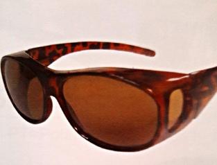 Solskydd oval brun - 142 mm inuti