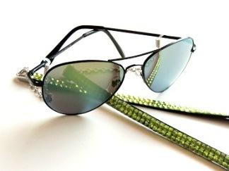 Solglas pilot Brilliant med gröna spegelglas