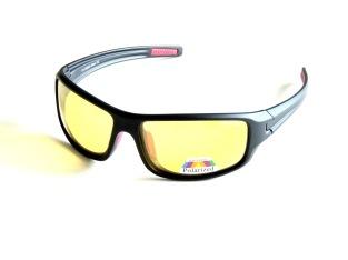 Polariserande med gula glas sportig ,svarta
