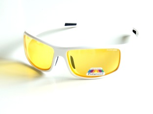 Polariserande med gula glas sportig ,vita