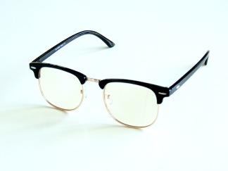 Skärmglas Pål svarta utan styrka