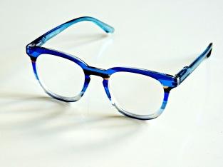 Läsglas Stripey blå