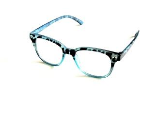 Läsglas gepard blå
