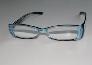 Läsglas blå pärlemor