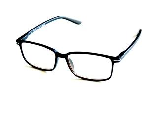 Skärmglas Göta svarta med styrka +1,0