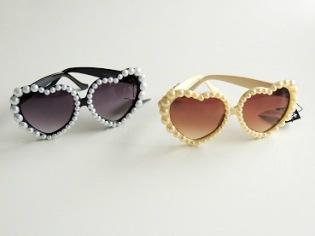 Solglasögon pearl heart