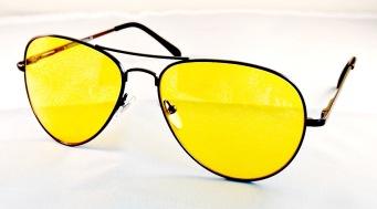 Solglasögon pilot gula med mörk båge