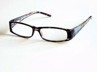 Läsglas brun rutig