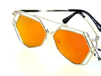 Solglasögon Napoli silver och rödorange