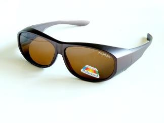Solskydd polariserad ovanpå 14,5 cm bruna
