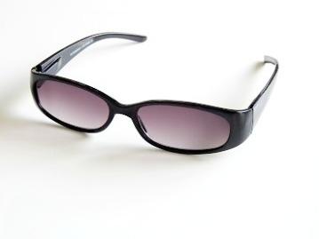 Solläsglas oval svart
