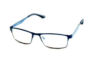 Skärmglas Frej svartblå metall utan styrka