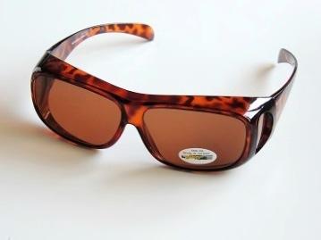 Solskydd ovanpå bruna med ljusare glas - 140 mm inuti