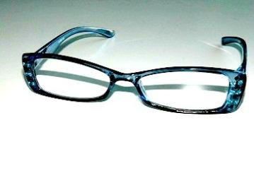 Läsglas Karin blå strass