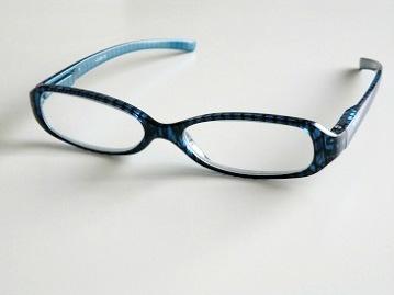 Läsglas blå rand