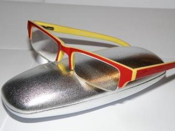 Läsglas 2-färgad röd och gul