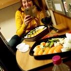 Mat i hytten på väg till Lettland