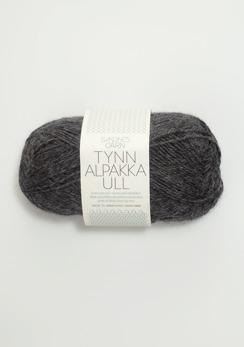 TYNN ALPAKKAULL - 1053 - Mörk gråmelerad