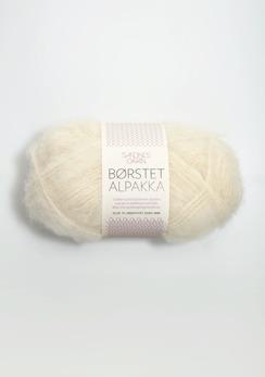 Borstad Alpakka - 1012 - Naturvit