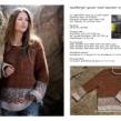 SKAPPELMÖNSTER - Rustfarget genser i mönster och stripe
