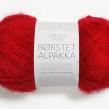 Borstad Alpakka - 4219 - Röd