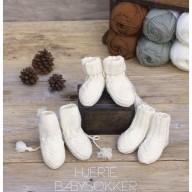 KongleBySigrun - Hjerte babysokker