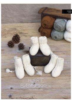KongleBySigrun - Hjerte babysokker - KongleBySigrun - Hjerte babysokker