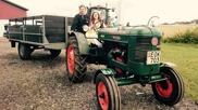 Vi stod på trakorns dag i Staffanstorp och var tvugna att prova åka traktor såklart