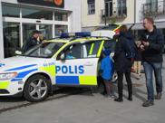 Prova att sitta i polisbil på vårt Lomma event