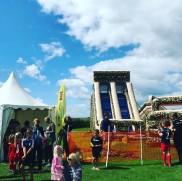 Möllecupen i Skanör sätter vi upp aktivtetsområde där barn kan hoppa mellan matcherna