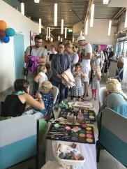 Halmstad city airport, kön var längst till ansiktsmålningen. trots att vi var 2st som målade så köade barn i 1h. Populär aktivitet!