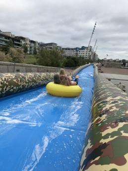 80m vattenslide på Scaniabadet i Malmö. Arrangör Malmö Stad, öppet för allmänheten.