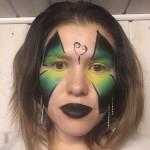 ansiktsmålning fjäril