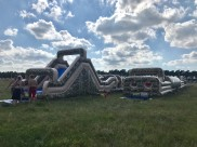 jamboree scoutläger med 15.000st deltagare. 86m hinderbana formad som ett U. Hinderbanan passar alla åldrar.