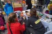 Ansiktsmålning på skördefest i Lomma