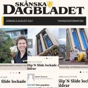 Skånska Dagbladet uppmärksammade eventet med vattenslide