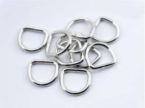 D-ring 16mm Nickel 10-pack