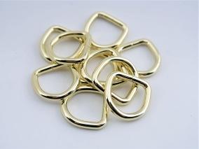 D-ring Mässing 16mm 10-pack