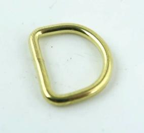D-ring mässing 16mm
