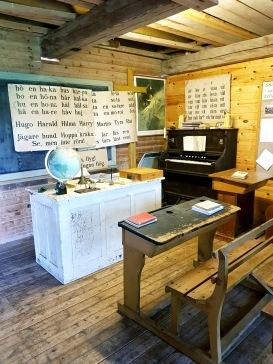 Museum: gammal skolsal