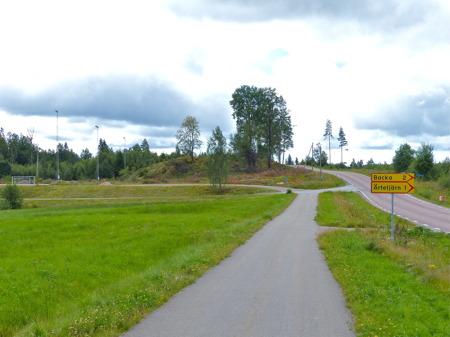 5 augusti 2016 - Hagavallens nya parkering kommer att ligga mellan Fågelviksvägen och nya konstgräsplanen.