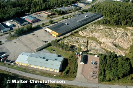Källhultets och Ståltorpets industriområden.