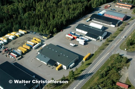 Industriområdet Ståltorpet vid E18 öster om Töcksfors.