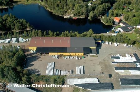 Jordfabriken Econova på gamla sågverksområdet.