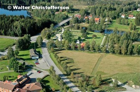 Äldreboendet Solgården, Församlingshemmet, Töcksmarks kyrka och Turistgården.